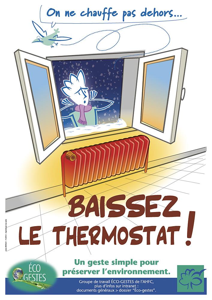 AHFC affiche ecogeste chauffage
