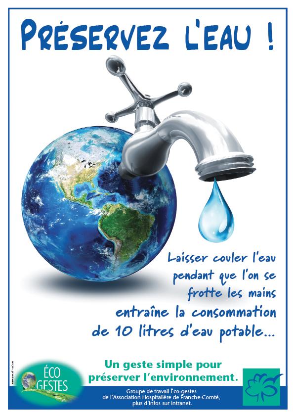 AHFC affiche ecogeste eau