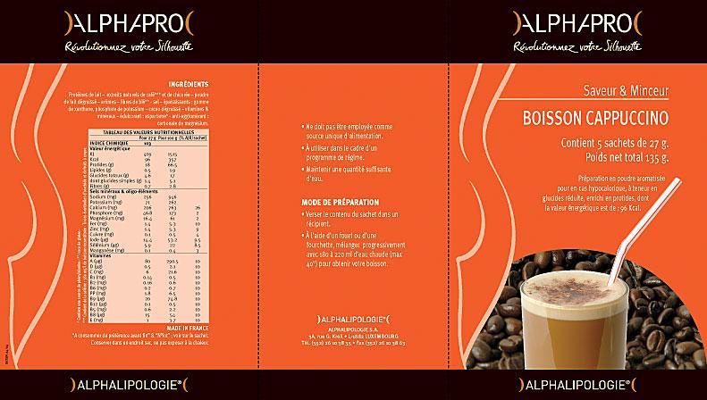 AlphaPro fiche boisson