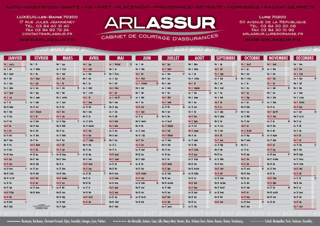 Arlassur calendrier 2017 A3