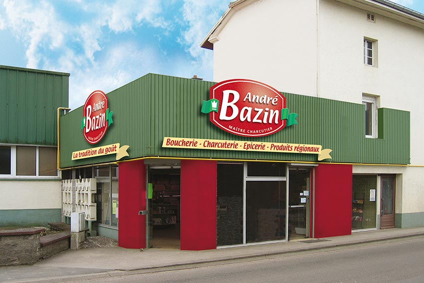 Bazin enseignes magasin