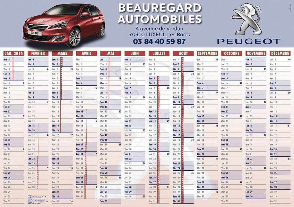 Beauregard Automobiles calendrier 2