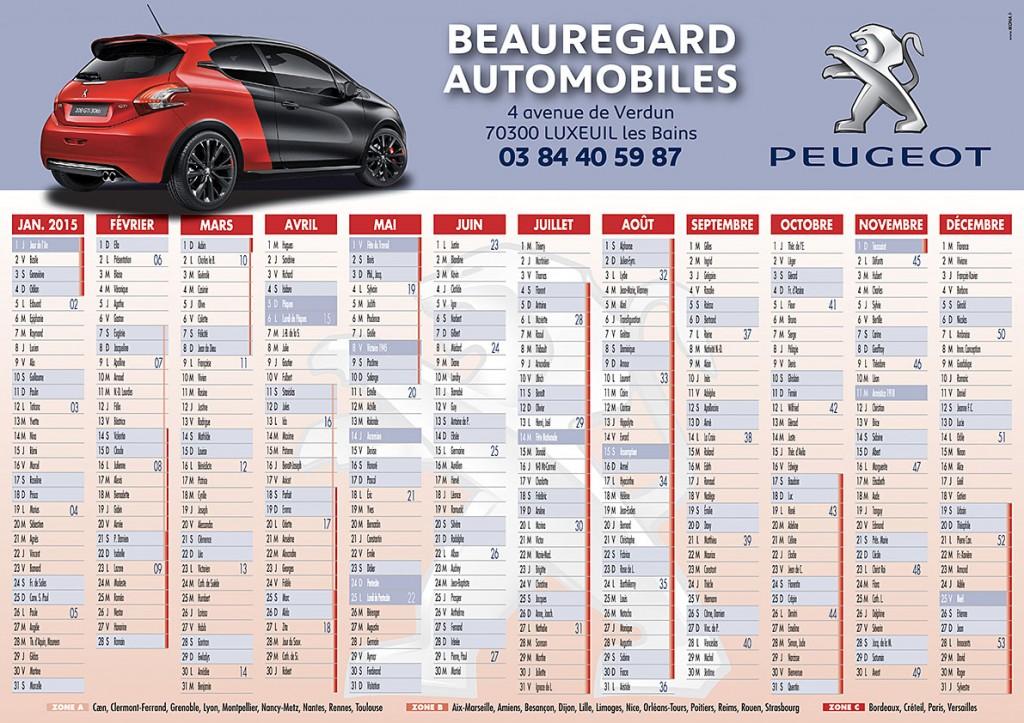 Beauregard Automobiles calendrier 3