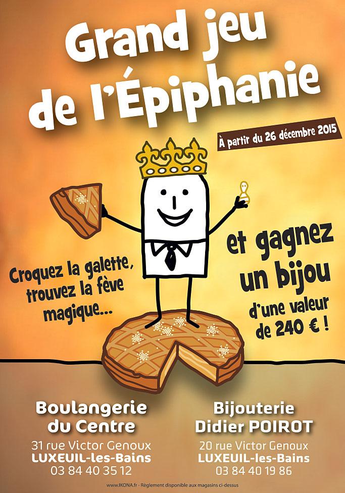 Boulangerie du centre affiche Epiphanie