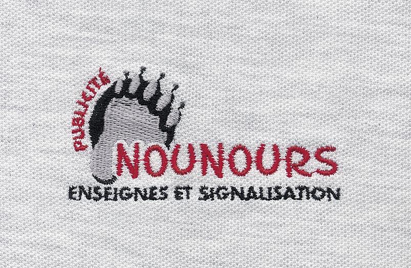 Broderie polo Nounours