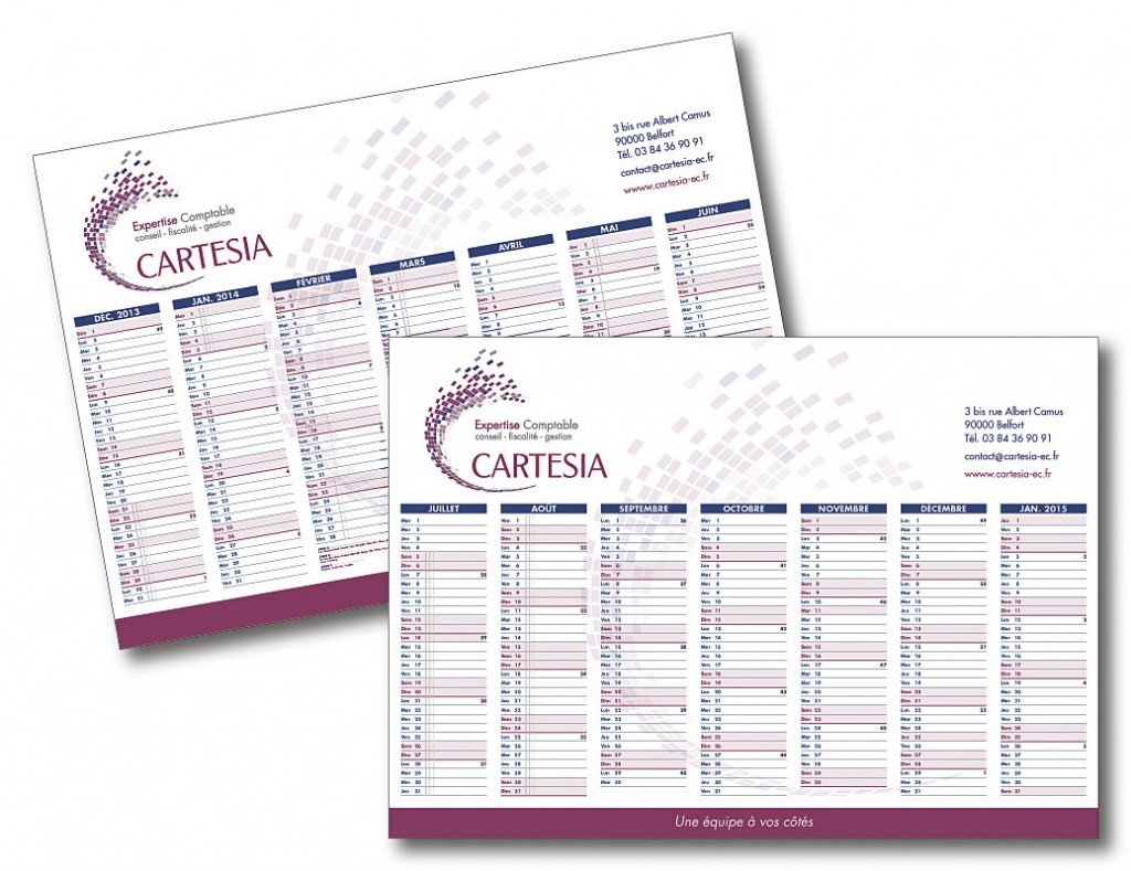 Cartesia calendrier A4
