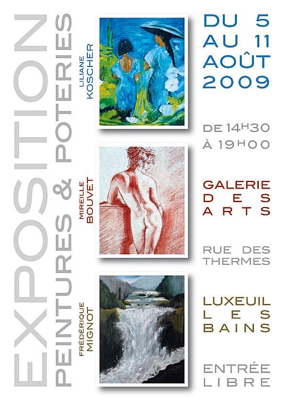 Expo peintures poteries affiche