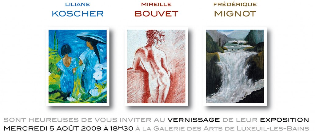 Expo peintures poteries invitation