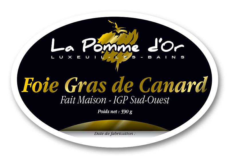 La Pomme d'Or etiq foie gras