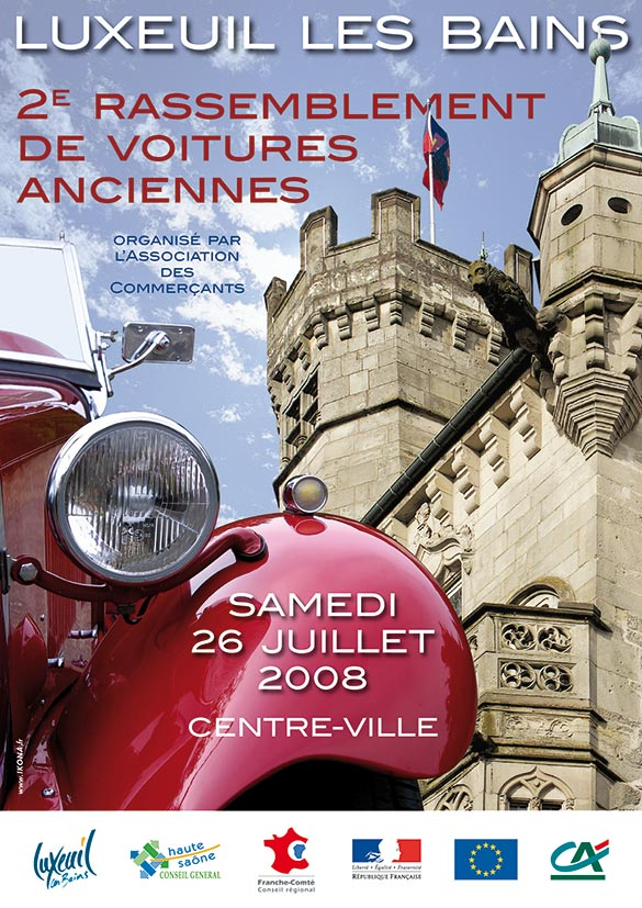 Luxeuil affiche voitures anciennes