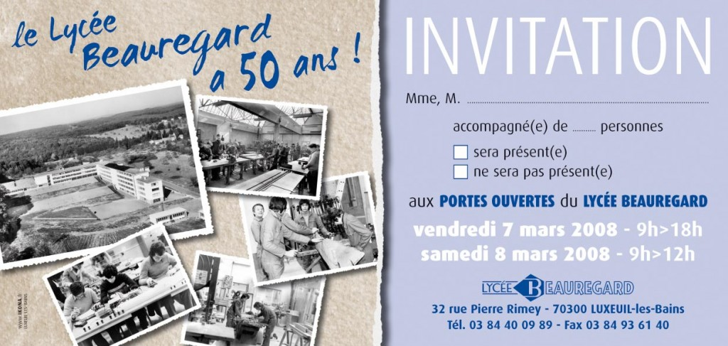 Lycee Beauregard invitation