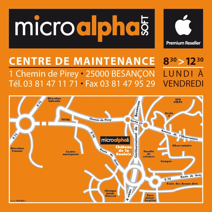 Micro Alpha Soft carte maintenance