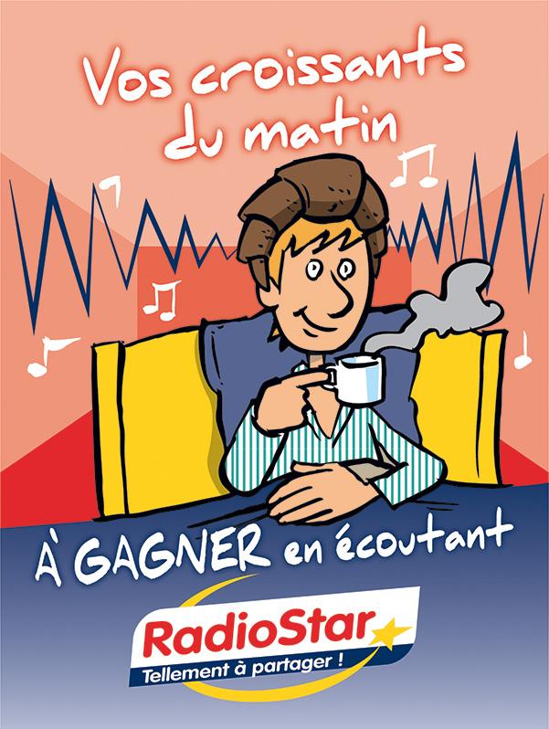 Radio Star aff 60x80cm croissants