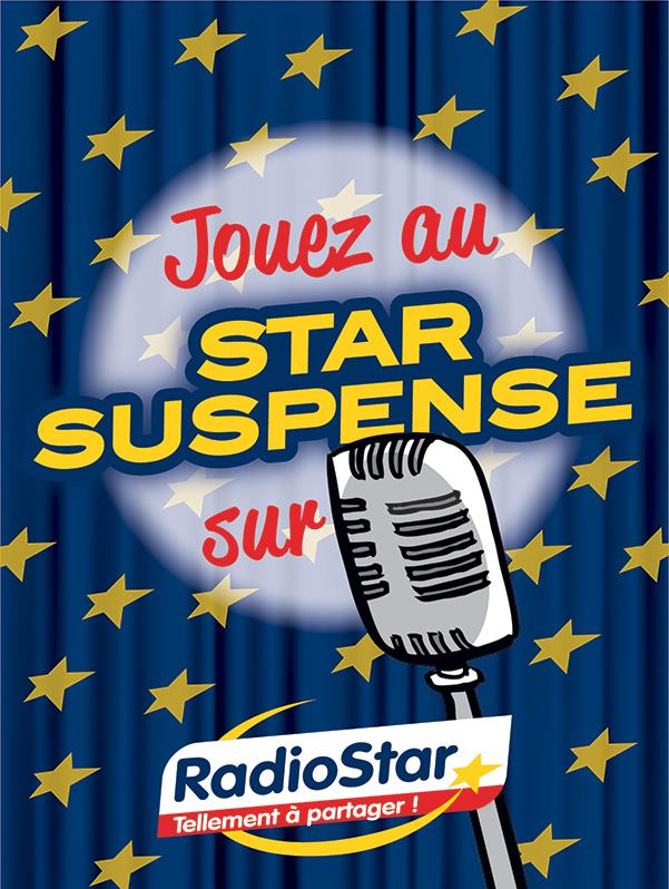 Radio Star aff 60x80cm star suspense