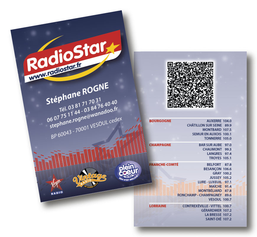 Radio Star carte comm