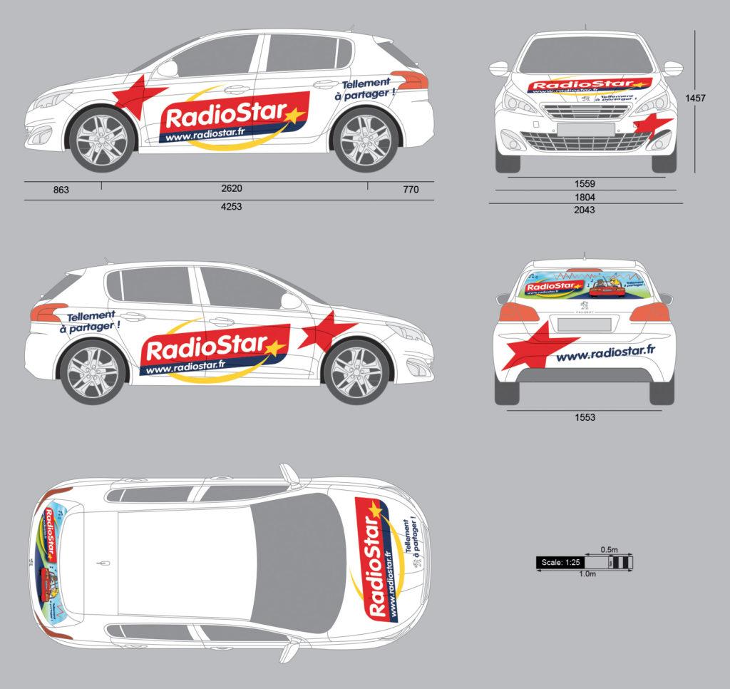 Radio Star déco Peugeot 308