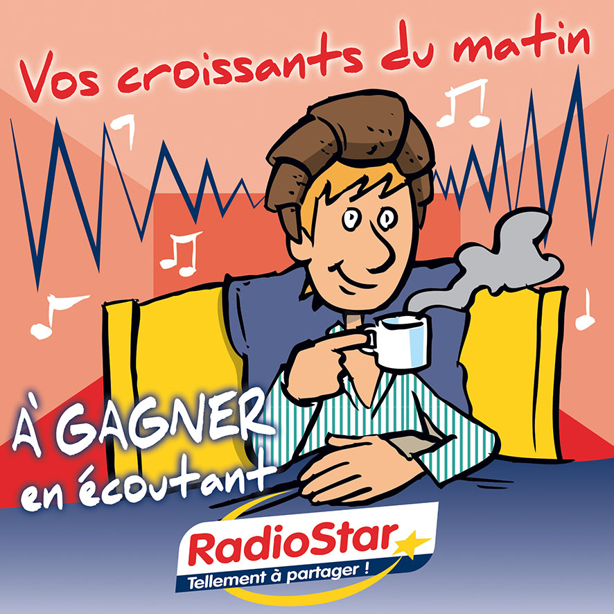 Radio Star visuel BD matin croissants