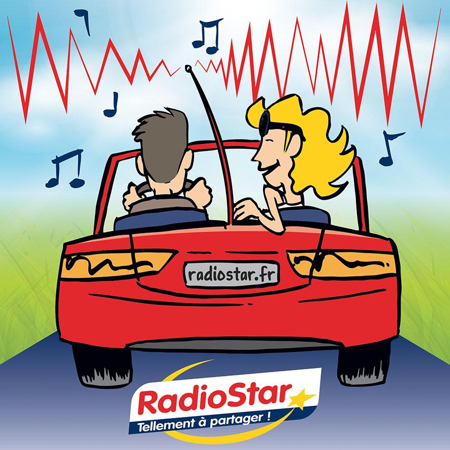 Radio Star visuel BD voiture