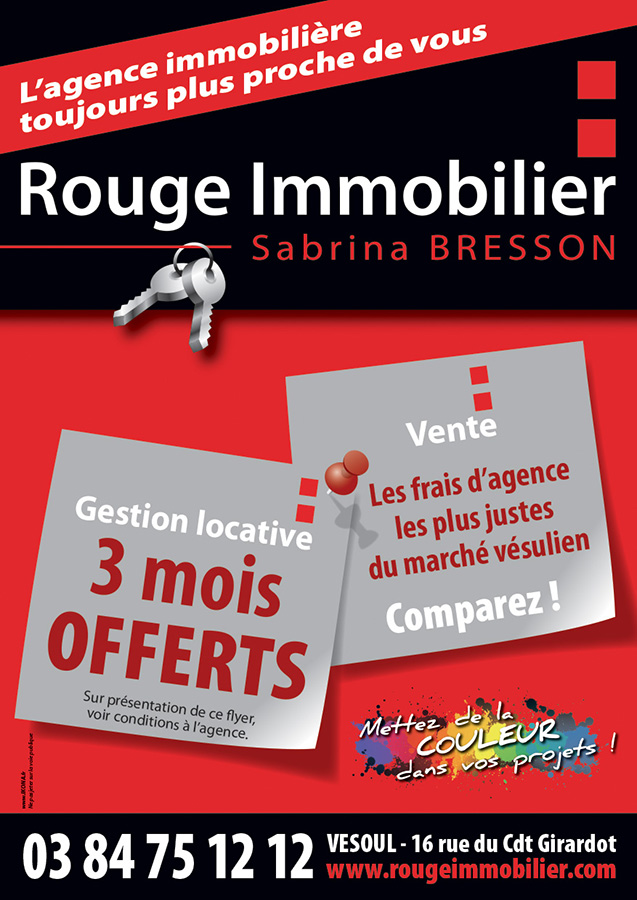 Rouge Immobilier flyer