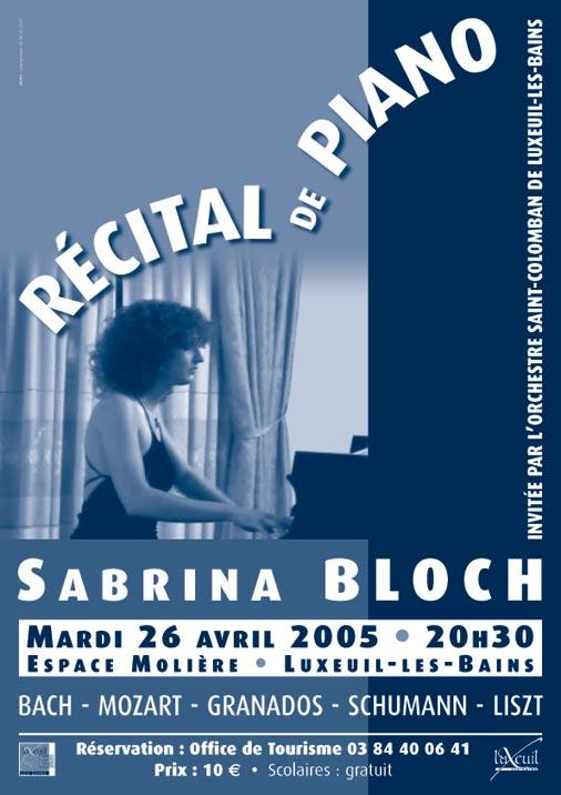 SBloch recital affiche