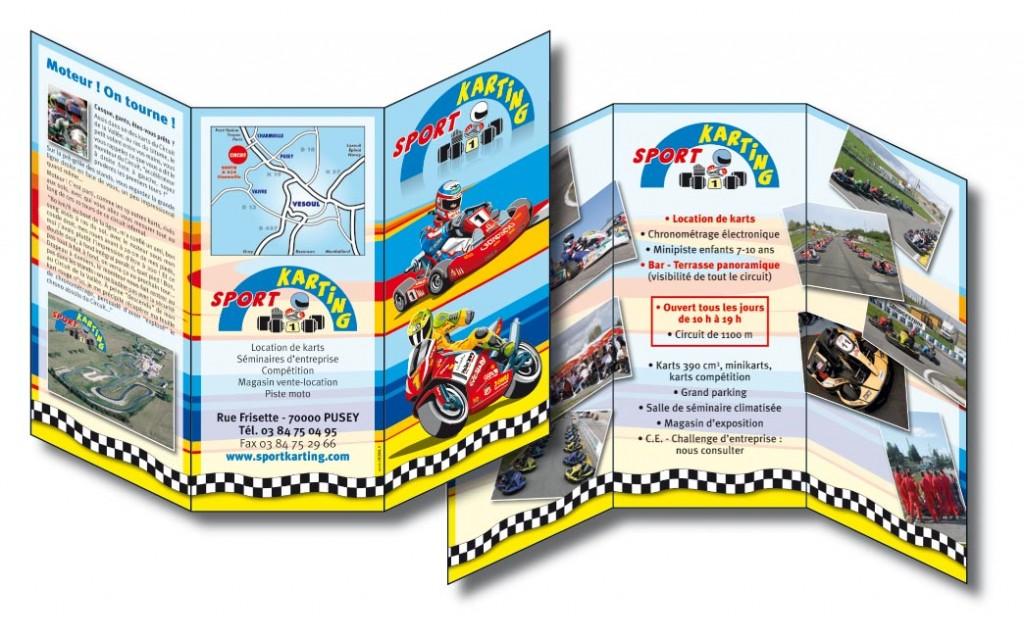 Sport Karting A4 en 3 volets