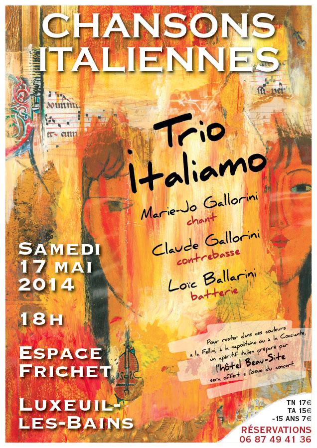 Trio Italiamo affiche